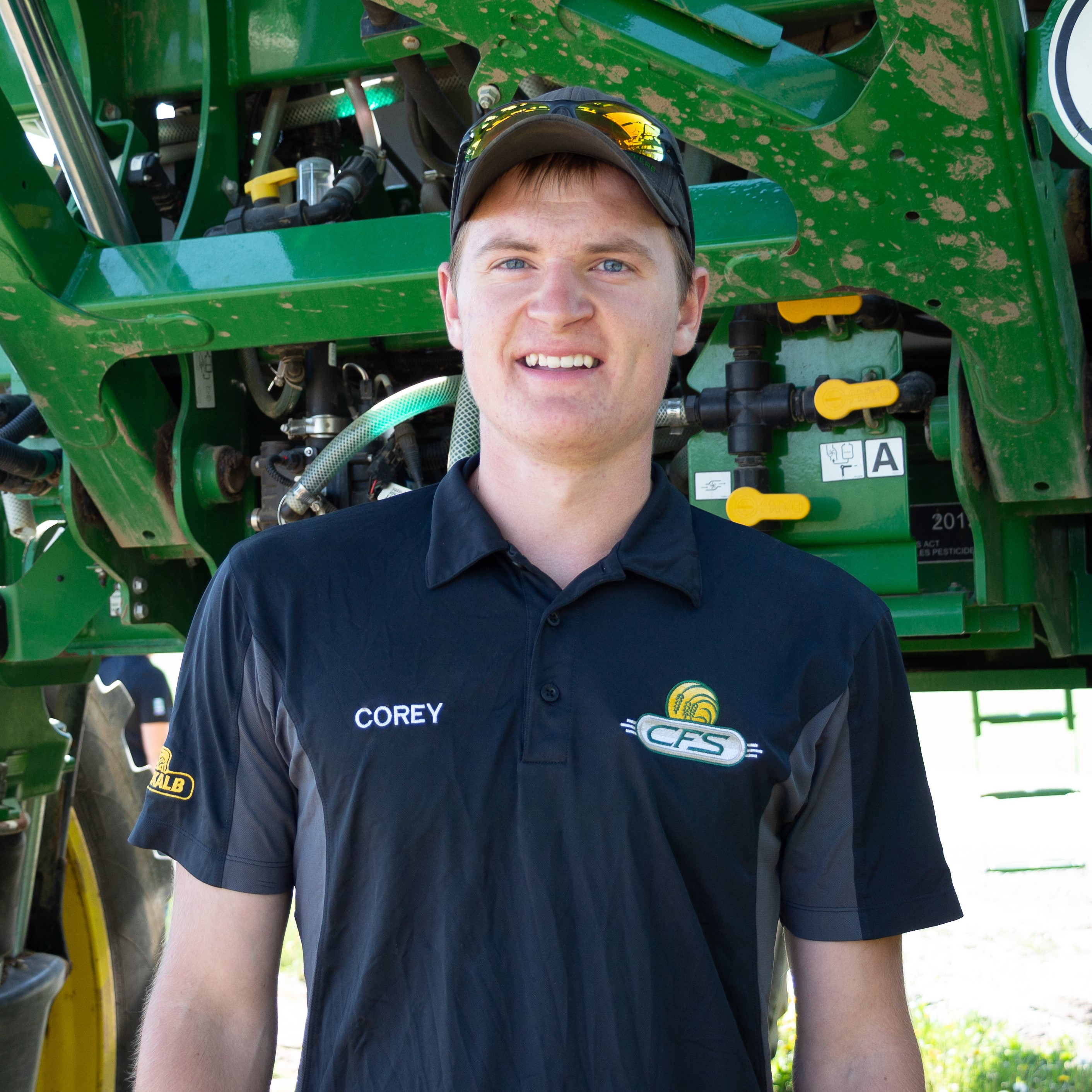 Corey FreySprayer Operator Corey grew up on a cash crop farm outside of Listowel. He joined CFS as a tender driver in 2017 and is now a licensed exterminator and our main sprayer operator at CFS. Corey continues to pursue his interest in the cropping industry.